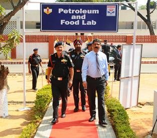 Inaugaration of POL Testing laboratory for Indian Army Red Carpet