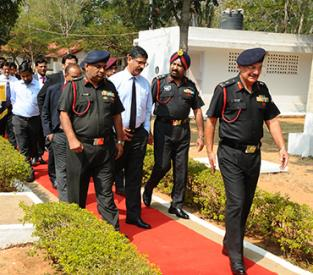 Inaugaration of POL Testing laboratory for Indian Army Walk