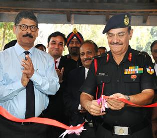 Inaugaration of POL Testing laboratory for Indian Army Ribbon Cut