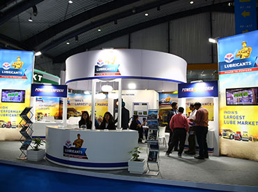 Excon 2017 HP Lubricants Stall Sideview