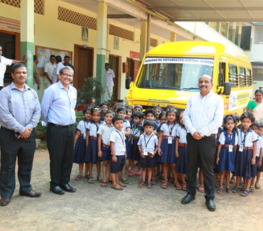 Handing Over of Vehicle at Saraswathy Vidyabhavan Central School